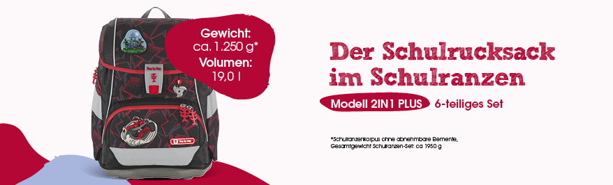Step by Step 2in1 Plus, Schulranzen, Schultasche, Ranzen, Gewicht, Größe, Volumen, Easy Grow System, Magic Mags, wechselbare Motive, stufenlos mitwachsendes Tragesystem